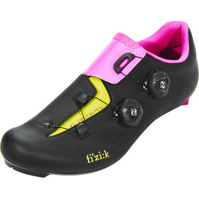 Fizik Aria R3 Zapatillas Racing Bike, black/pink/yellow fluo